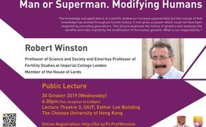 Distinguished Visitors Public Lecture: Lord Robert Winston