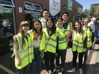 Students at a warehouse tour of Revive Leeds