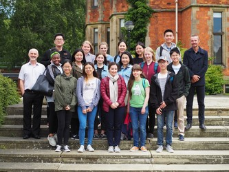 Group picture with students and staff from the University of York